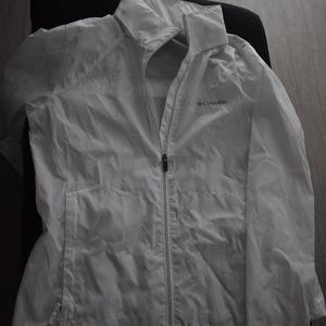 Columbia Light Weight Rain Jacket - White